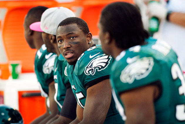 LeSean McCoy watches the game slip away. (AP)