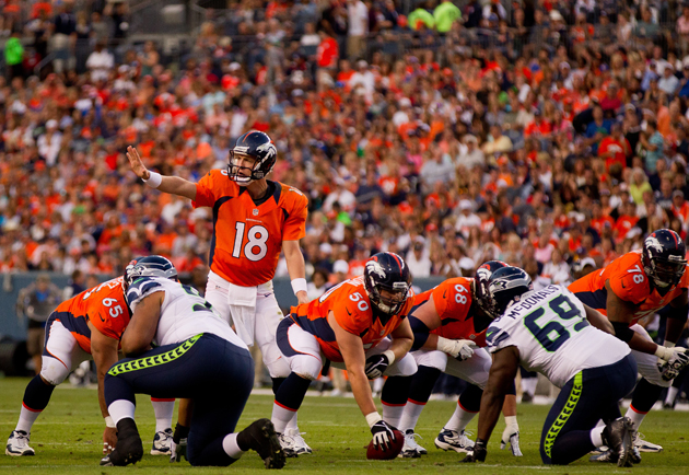 Think Peyton Manning's 100% yet? You may want to hold off. (Getty Images)