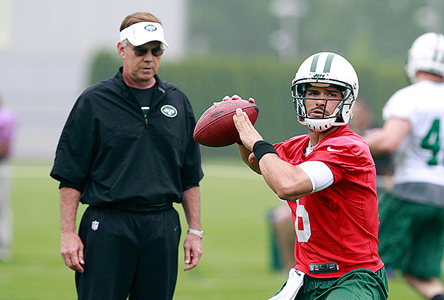 Mark Sanchez will have to earn the starting job this summer (USA Today Sports Images)