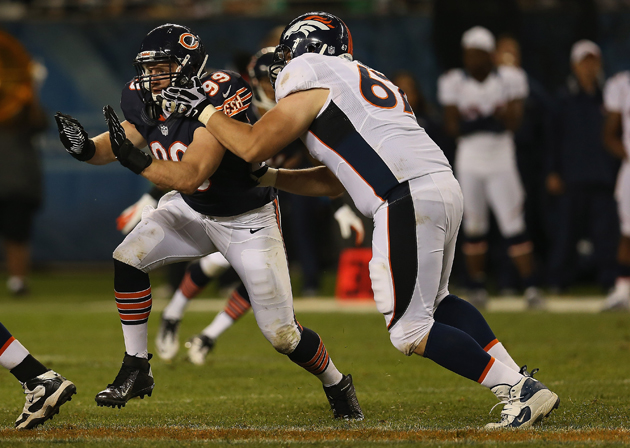 Shea McClellin impressed in his preseason debut. (Getty Images)