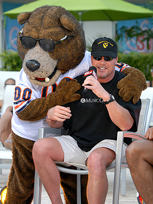 The guy in the bear suit hasn't been charged with anything. Yet. (Getty Images)