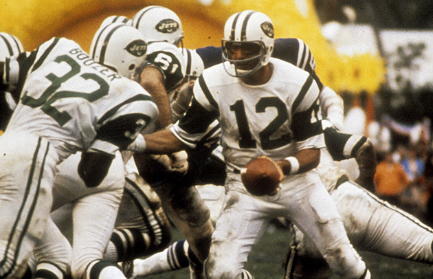 In January, 1969, Namath had his own Super day in the sun. (Getty Images)
