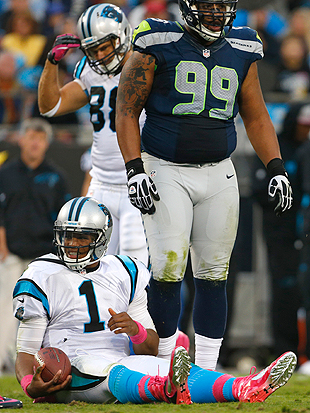 This picture typifies far too much of Cam Newton's season. (AP)