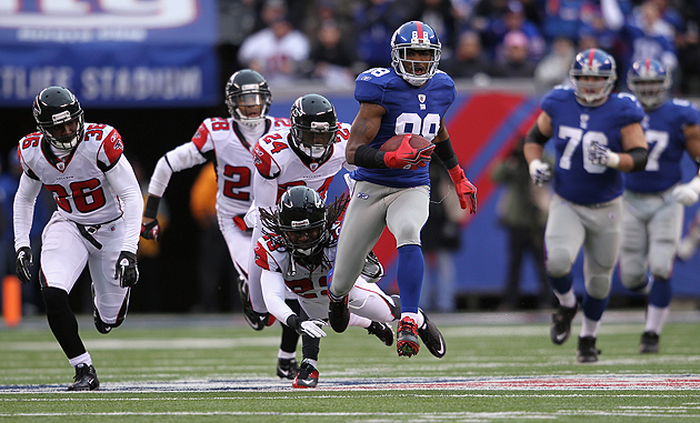Hakeem Nicks was one of many standouts for the Giants. (Getty Images)
