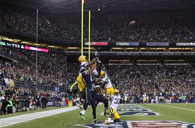This play may bring the real refs back, but that's small consolation to the Packers. (AP)