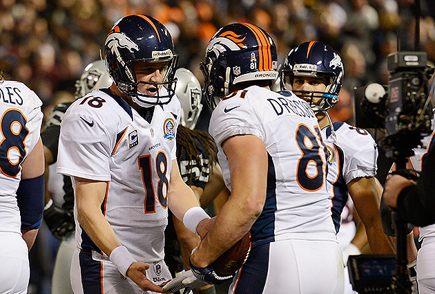 Peyton Manning and the Broncos improved to 10-3 on Thursday night (Getty Images)