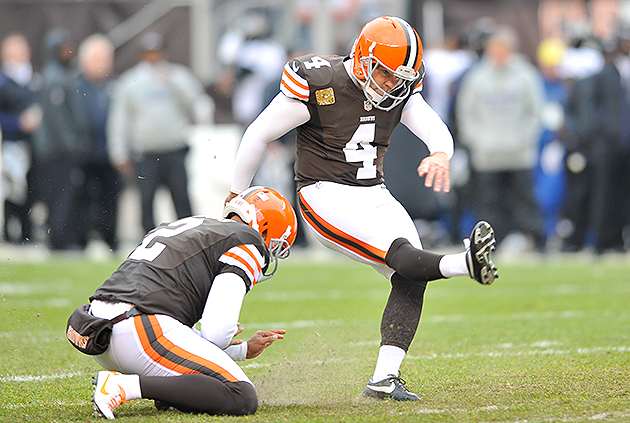 The Browns should not play tag with Phil Dawson (USA Today Sports Images)