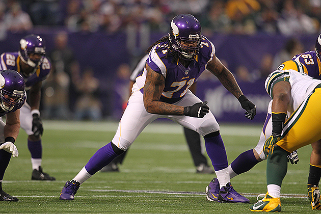 The Vikings could use the franchise tag on Phil Loadholt (USA Today Sports Images)