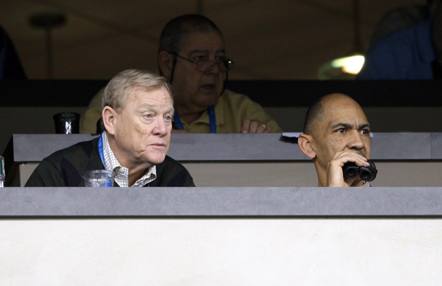 Bill Polian (L) would rather not think outside the box. (Getty Images)