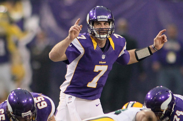 Christian Ponder will have to do better if the Vikings hope to take a Lambeau Leap. (Getty Images)