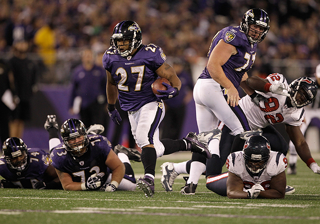 Few are tougher to stop between the tackles than Ray Rice. (Getty Images)