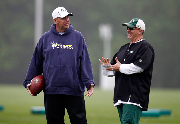 Rex Ryan and Tony Sparano is happier days. (Getty Images)
