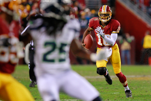RG3's ability to set defenses on edge is about more than his legs. (USAT Sports Images)