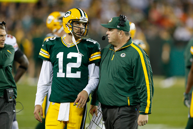 Aaron Rodgers and Mike McCarthy are still trying to figure it out. (Getty Images)