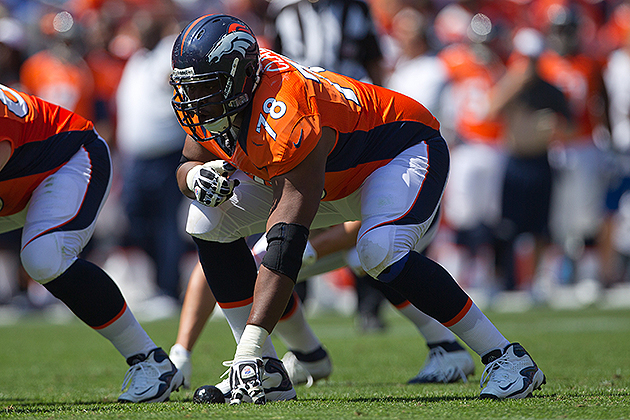 Ryan Clady and the Broncos will resume contract talks next week (Getty Images)