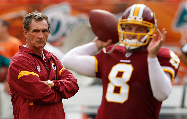 The Redskins are all in, hoping to avoid another quarterback mistake. (AP)