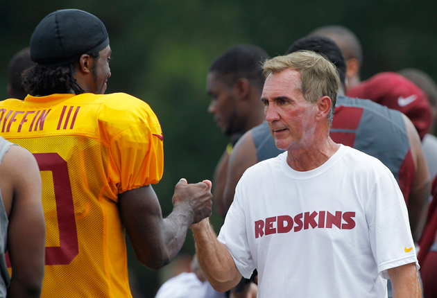 Robert Griffin III and Mike Shanahan have had a unique understanding from the start. (AP)