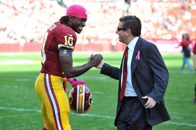 Maybe Redskins owner Dan Snyder should ask his players what they think. (Getty Images)
