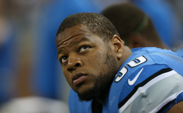 "Ndamukong Suh would probably like a word with ""Mr. X."" (Getty Images)"