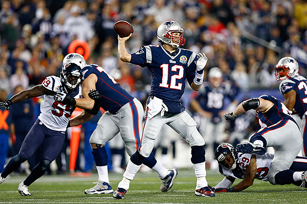 Tom Brady had four touchdown passes in blowout win over Houston (Getty Images)