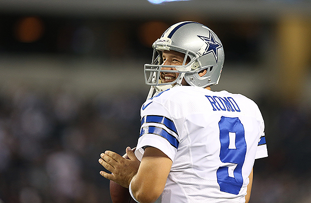 Tony Romo had a cyst removed from his back (USA Today Sports Images)