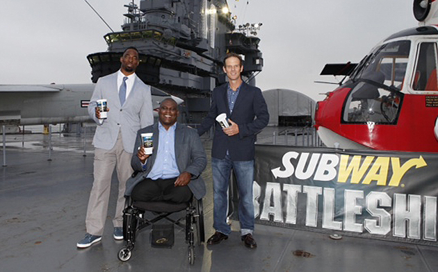 Tuck, Gadson, and Berg aboard the the Intrepid Sea, Air and Space Museum. (AP)