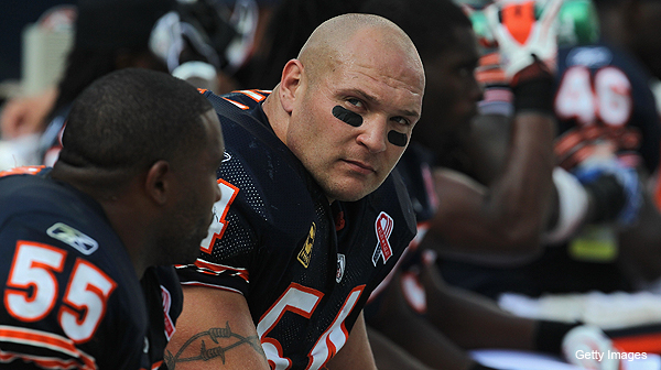Brian Urlacher could miss the remainder of the regular season (Getty Images)