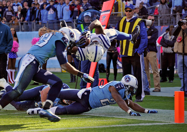 No, this is not Photoshopped. Vick Ballard actually did this. (Getty Images)