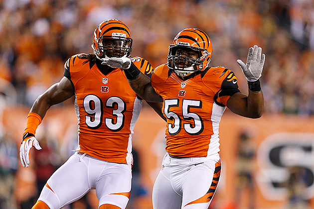 Vontaze Burfict (No. 55) led the NFL in performance-based pay (Getty Images)