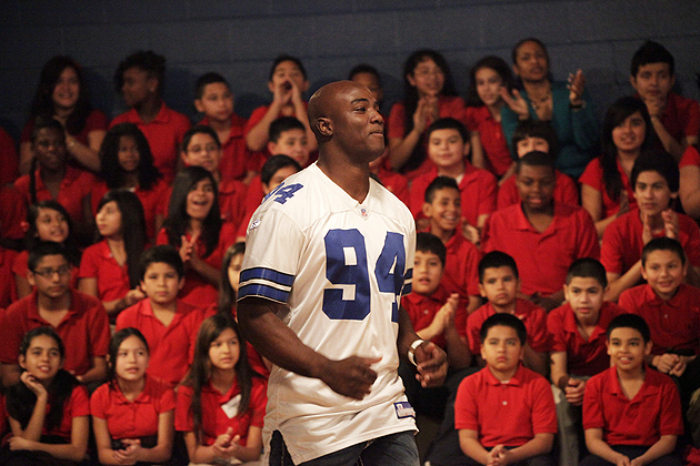 These days, DeMarcus Ware's off-field life is all about the kids. (Getty Images)