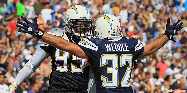 Pro Bowl voters, Eric Weddle thinks you have some 'splainin' to do. (Getty Images)