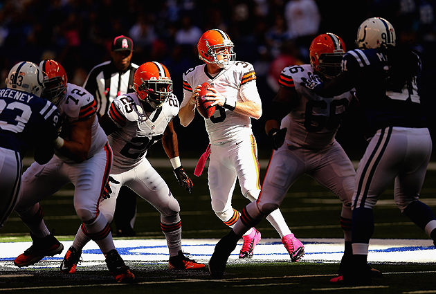 Brandon Weeden might want to mind his time in the spotlight. (Getty Images)