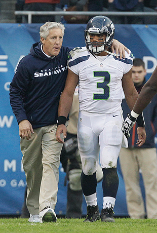 Pete Carroll didn't expect a rookie franchise QB in the third round, but he may have one. (AP)