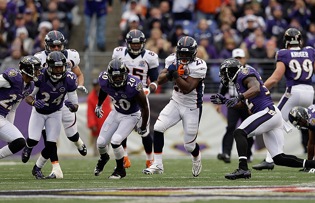 Knowshon Moreno ran wild on the Ravens earlier this season. (Getty Images)
