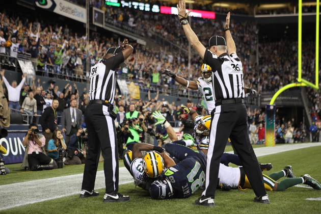 Richard Sherman hires replacement ref from Seahawks-Packers game as charity ump