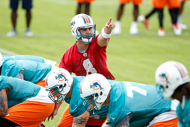 The Dolphins' QB battle could be going in several different directions. (Getty)