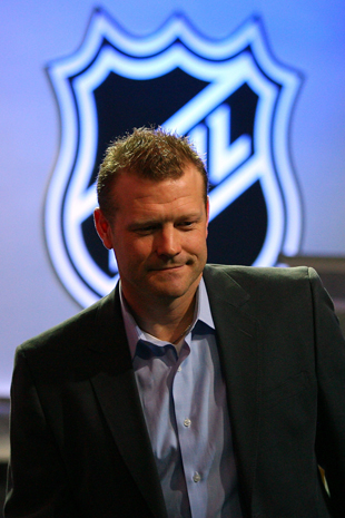 Tim Thomas at the NHL All-Star draft - Getty Images