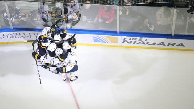 Sabres hug it out - Getty Images