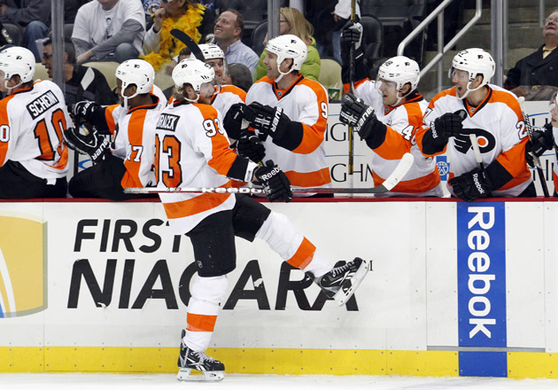 Flyers end Penguins' miracle comeback with Jakub Voracek's hat-trick goal (VIDEO)