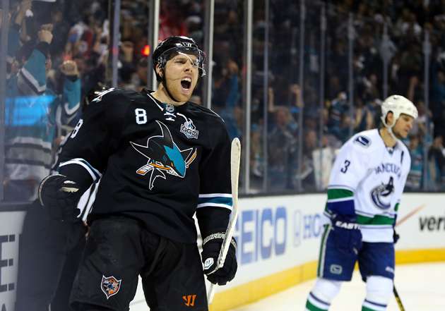 Sharks, Canucks dive into smack talk in embellishment debate