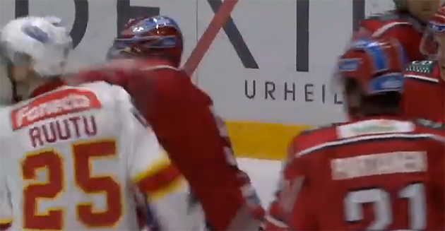 Trevor Gillies sucker punches Jarkko Ruutu after Ruutu refuses fight (Video)