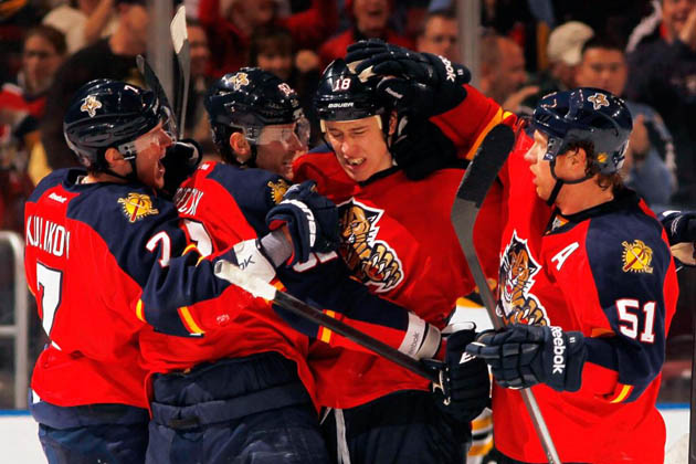 Florida Panthers emotional hockey hug