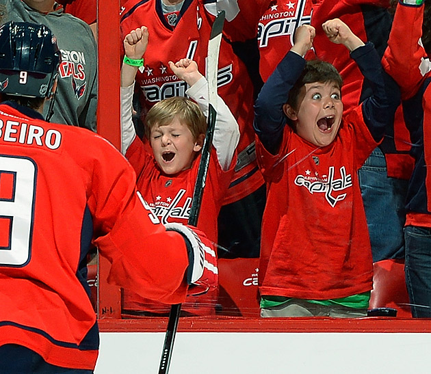 Happy Lil Caps Fan is the embodiment of Stanley Cup Playoffs joy (Photo)