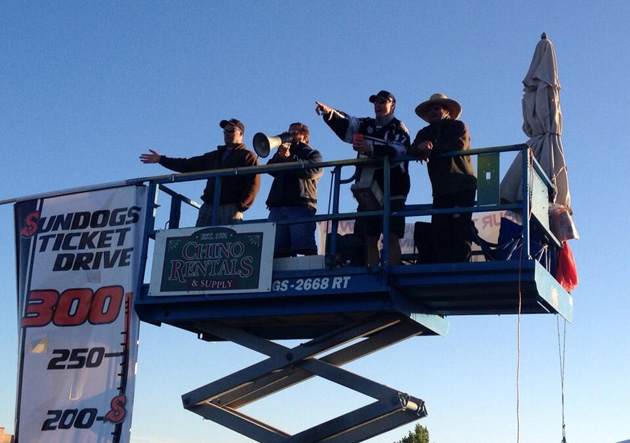 CHL's Arizona Sundogs have spent 5 days in scissor lift to sell season tickets