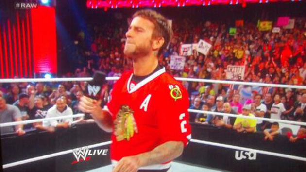 CM Punk cuts Chicago Blackhawks promo on Monday Night RAW (Video)