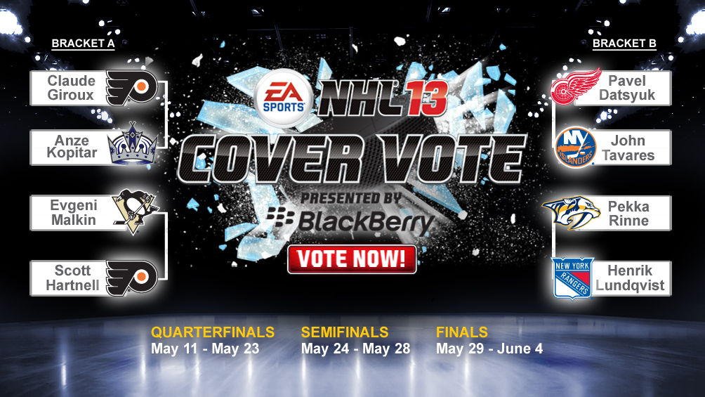 Final eight players announced in EA Sports NHL 13 cover vote campaign