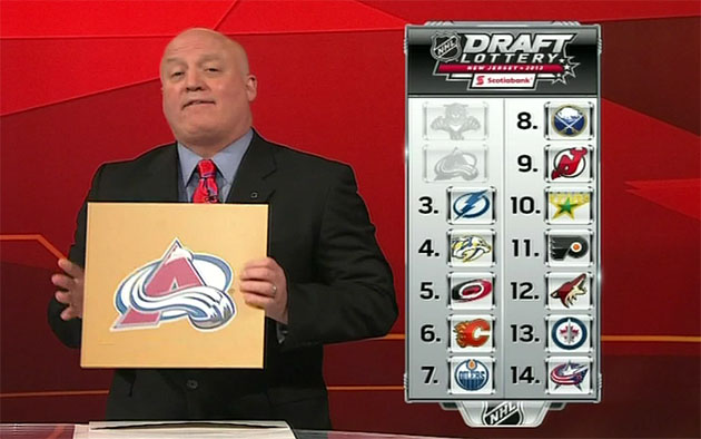 Colorado Avalanche win NHL Draft Lottery, will select No. 1 overall