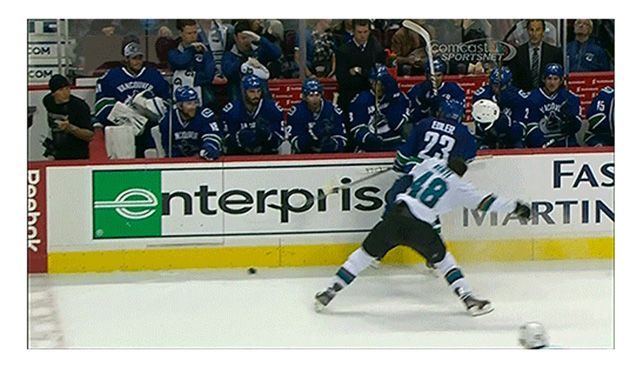 Tomas Hertl takes head-shot from Alex Edler; should Canucks defenseman earn suspension?