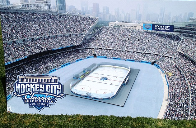Soldier Field attempts to prove the 'Windy City is actually the Hockey City'