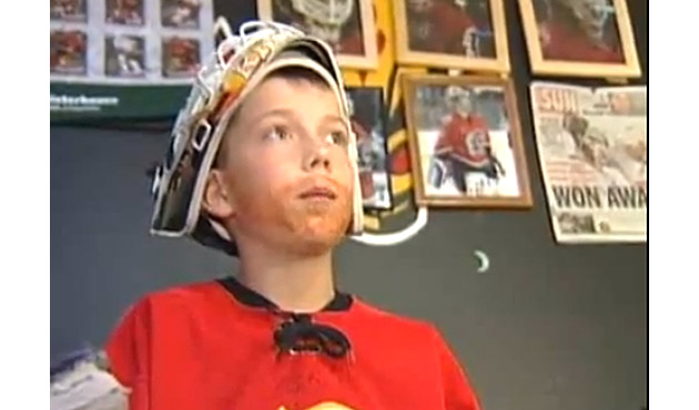 Legendary 'Kiprusoff Kid' says goodbye to his idol